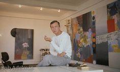 Jasper Johns in his Upper West Side New York studio. 1965