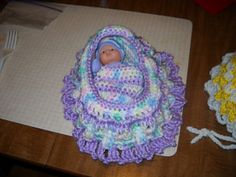Ravelry: Crochet Cradle pattern by Daisy Designs Shop {Color love}