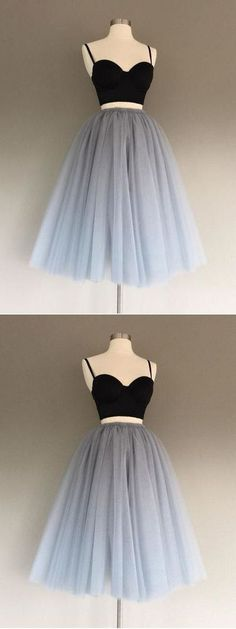 Homecoming Dresses Prom Dress Two Piece Prom Dresses Short Prom Dress Homecoming Dresses 2019 Simple Homecoming Dresses, Simple Prom Dress, Cute Prom Dresses, Dresses Short, Grad Dresses, Dance Dresses, Cheap Dresses, Sexy Dresses, Dress Prom