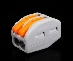 (10 pcs/lot)  222-412(PCT212) Universal Compact Wire Wiring Connector 2 pin Conductor Terminal Block With Lever 0.08-2.5mm2
