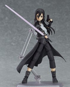 """""""Come on, let's have a duel right now."""" From the popular anime 'Sword Art Online II' comes a figma of Kirito in his avatar from Gun Gale Online! Using the smooth yet posable joints of figma, you can act out a variety of different scenes. Sword Art Online Kirito, Sword Art Online Figures, Kirito Sword, Gun Gale Online, Asuna Sao, Kirito Kirigaya, Arte Online, Kunst Online, Online Art"""