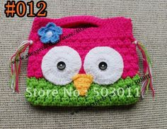 20pcs,Handmade Crochet OWL Purse,Crochet knitted coin wallet, cartoon kids wallet,free shipping-in Wallets from Luggage & Bags on Aliexpress...