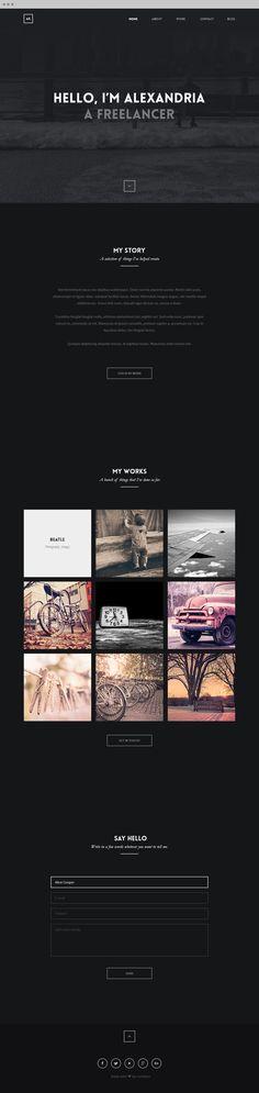 Alexandria - OnePage Creative Portfolio by Ismail MESBAH, via Behance