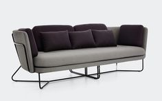 Chillax Sofa | Stellar Works | Designed by Nic Graham | Code: CH-S401 Materials: Powder coated steel frame, Brass plated stainless steel connectors Dimensions: W2300 x D903 x H780mm Seating height: 420mm