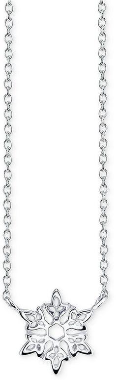 Disney Frozen Snowflake Pendant Necklace in Sterling Silver