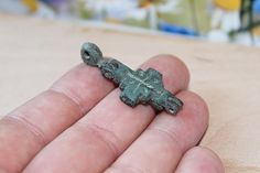 #Authentic Christian encolpion. Vikings. Kievan Rus. 8 - 13th century AD. Bronze. #Antique artifacts.  Length 1.73 inches (44mm) Width 0.74 inches (19mm)  A reliquary was a r... #viking #ancient #amulet #antique #artifacts #bronze #authentic #patina #vikings #kiev #antiquities #encolpion ➡️ https://www.etsy.com/treeantiques/listing/510419158/authentic-christian-encolpion-vikings?utm_campaign=products&utm_content=04e20e67d868488896254cc33f230f71&utm_medium=pinterest&utm_source=sellertools