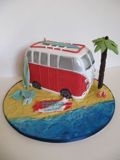 cake lady cakes for any special occasion Bus Cake, Beach Cakes, Boy Birthday, Birthday Cakes, Cakes For Women, Special Occasion, Wedding Cakes, Vintage Cakes, Sweets