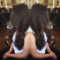 dark hair balayage                                                       …