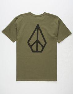 bde171189660a VOLCOM MOCLOV Mens T-Shirt - ARMY - 311120481