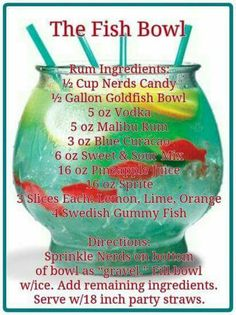 From 'Candy Infused Green Vodka' to 'Lucky Leprechaun Cocktail's' here's the only list of St Patrick's Day Cocktails you'll need to get the party started with a bang! There's some seriously tasty ones… Liquor Drinks, Cocktail Drinks, Fishbowl Drink, Alcholic Drinks, Alcohol Drink Recipes, Summer Drinks, Cheers, 21st Birthday Drinks, Alcoholic Drink Recipes