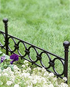 Nice to mix with older iron fence.