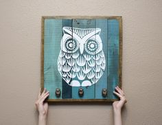 DIY with reclaimed wood...wall hanging with hooks