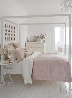 shabby chic bedroom furniture blue every shabby chic boho bedroom; shabby chic oak bedroom furniture outside shabby chic decor kitchen most shabby chic my bedroom Light Pink Bedrooms, Shabby Chic Bedrooms, Shabby Chic Homes, Shabby Chic Furniture, Shabby Cottage, White Cottage, Cottage Rugs, Cottage Curtains, Romantic Bedrooms