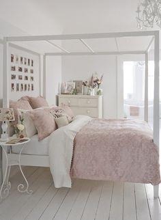 Bedroom linens...... White, pink, cream  beige