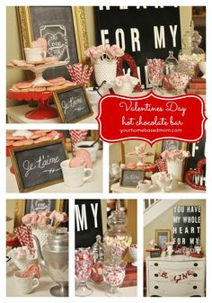 Valentines Day Hot Chocolate Bar @yourhomebasedmom.com