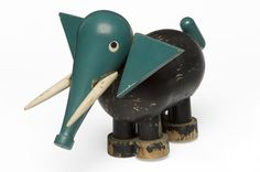 Georges Martin | vintage wooden elephant toy, 1946 ✭ mid century kids design