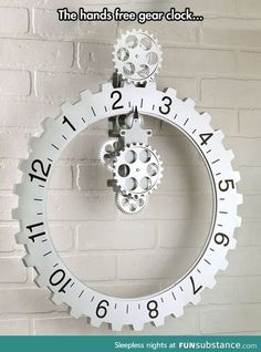Handless clock-would be a great Father's Day gift for a man cave