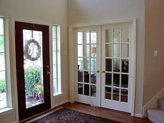 Turn our formal living into a study with french doors.