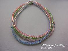 Set of four Swarovski Crystal Necklaces