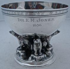 RARE Gorham Sterling Art Deco Figural 4 Polar Bear Yachting Trophy Bowl C 1936 | eBay