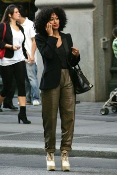 Tracee Ellis Ross Photos - Actress Tracee Ellis Ross laughs on the phone whilst strolling through New York's Soho. - Tracee Ellis Ross in SoHo Style Casual, Work Casual, My Style, Chic Outfits, Fashion Outfits, Work Outfits, Girly Outfits, Trendy Outfits, Fashion Sets