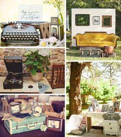 vintage wedding decor// by tracey
