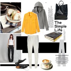 A fashion look from January 2012 featuring Equipment blouses, Uniqlo hoodies and THVM. Browse and shop related looks.