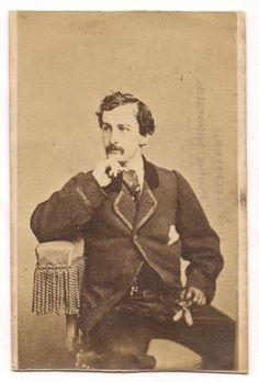 OLD-VINTAGE-ANTIQUE-CDV-PHOTO-of-JOHN-WILKES-BOOTH-by-CHARLES-DeFOREST-FREDRICKS