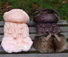 Dog Cat Winter warm coat Jacket pet puppy Hoody clothes Buttons & bow Apparel