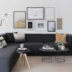 // r e g r a m // Just love @thedesignchaser and her living space. That sofa and @muutodesign coffee table