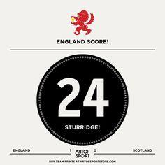 GOAL! ENGLAND! STURRIDGE! Come. On. You. Lads.  #england #eng #threelions