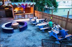 Let someone else do the cooking and cleaning while you soak up summer on these outdoor patios.