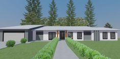 Retreat - Breezeway House A single-storey contemporary, yet modest design, suited for acreage properties. This simple design opens out into a large backyard or farmland. Storey Homes, Large Backyard, Breezeway, Indoor Outdoor, Outdoor Decor, Build Your Dream Home, Brisbane, Custom Homes, Simple Designs