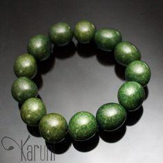 PAU BRASIL Bracelet Perles Graines dAmazonie Vert Kaki