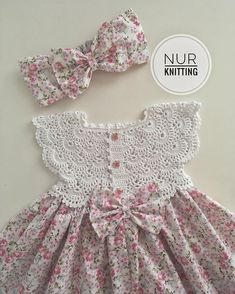 Top Quality Kid Girl Dress Baby Clothing Brand Ceremonies Party Dresses Girls Clothes Costumes For Girl Wedding Christening Gown - crafts ideas Crochet Baby Dress Pattern, Baby Girl Dress Patterns, Baby Girl Crochet, Crochet Baby Clothes, Little Girl Dresses, Baby Knitting Patterns, Crochet For Kids, Baby Dresses, Peasant Dresses
