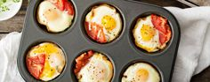 Baked Egg & Bacon Cups
