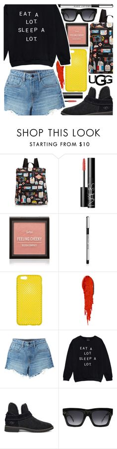 """""""The New Classics With UGG: Contest Entry"""" by foundlostme ❤ liked on Polyvore featuring LeSportsac, NARS Cosmetics, Marc Jacobs, Alexander Wang, UGG, CÉLINE, ugg, denimshorts and cutoffs"""