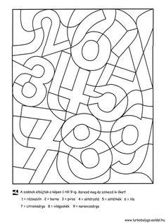 Kinder lernen spielend - ABC und 123 - Zahlen - Ausmalen und Lernen - Freebie *** Fun Kids Learning - Free Printable Learning and drawing the Numbers Numbers Preschool, Preschool Math, Preschool Worksheets, Math For Kids, Fun Math, Math Games, Montessori Activities, Kindergarten Activities, Preschool Activities