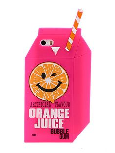 Skinnydip iPhone 5/5S Orange Juice Silicone Case