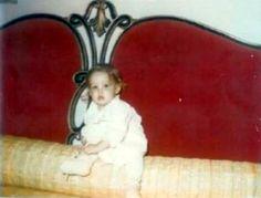 Lisa Marie on Elvis' bed