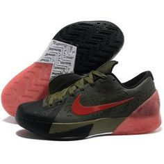 low priced 2d86b 7580c Nike Zoom KD 6 Black Army Green Red Shoes New arrival. This is the best  sale kd 6 shoes on our store. Buy now!