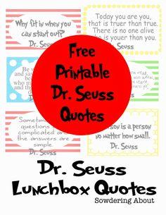 Dr. Seuss quotes; free printables