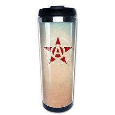 Boomy Cool A Red Star Text Stainless Steel Coffee Mug For Indoor  Outdoor Office School Gym Use * Check this awesome product by going to the link at the image.