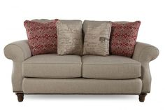 BROY-3666-1/4279-80 - Broyhill Whitfield Loveseat | Mathis Brothers Furniture