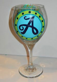 RhiCreates: Painting on Wine Glasses