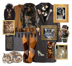 """She Let The Cat(s) Out Of The Bag & They Had A Blast Playing Around In Her Set"" by sharee64 ❤ liked on Polyvore featuring Judith Leiber, Dolce&Gabbana, N°21, Frye, H&M and Whimsical Watches"