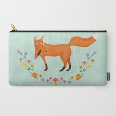 Fox carry all pouche - illustration by Valeria Frustaci #pouche #fox #illustration