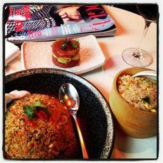 @British Vogue & #tasty #lunch works hand in hand. . . (^_−)☆