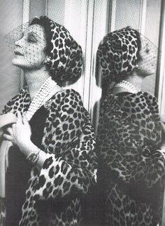 Germaine Bricard in Dior´s leopard fur