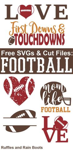 Free Football SVGs and cut files for football season. Any football fan would love to receive a gift with these. Free Football SVGs and cut files for football season. Any football fan would love to receive a gift with these. Cricut Vinyl, Vinyle Cricut, Cricut Fonts, Svg Files For Cricut, Free Svg Fonts, Free Fonts For Cricut, Cricut Air, Free Svg Cut Files, Vinyl Art